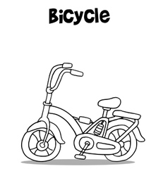 Bicycle art with hand draw vector