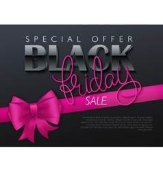 black friday banner with vector image