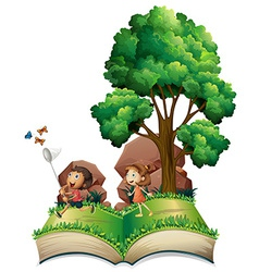 Children book vector image