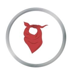 Cowboy scarf icon cartoon singe western icon from vector