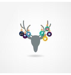 Deer head isolated vector image vector image