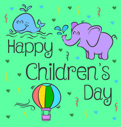 design style childrens day collection vector image vector image