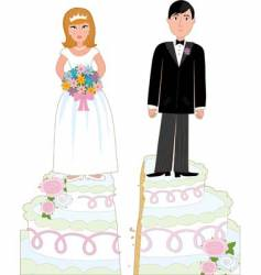 Divorce cake vector