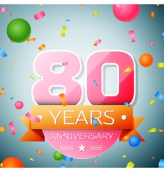 Eighty years anniversary celebration background vector