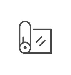fabric roll line icon vector image