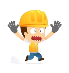 funny cartoon builder vector image vector image