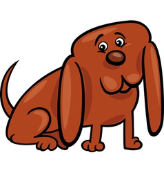 funny little dog cartoon vector image vector image