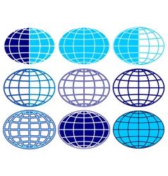 Globe set vector image vector image