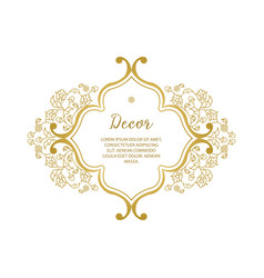 Gold ornamental decorative frame vector