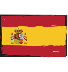 grunge spain flag or banner vector image vector image