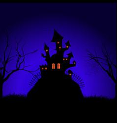 halloween spooky castle background vector image vector image