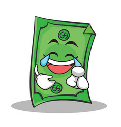 Joy face dollar character cartoon style vector