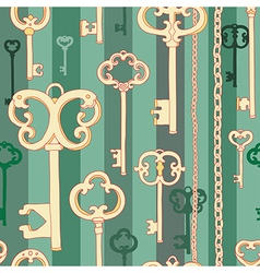 Key pattern green vector image