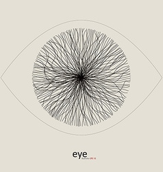 Lines constitute the image of the eyes vector