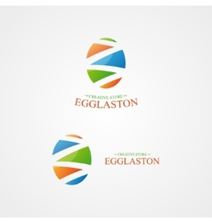 Logo with a creative egg logo vector
