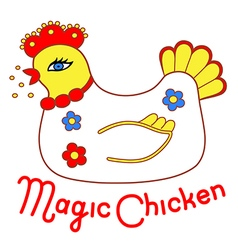 Magic chicken vector