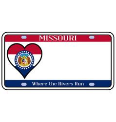 Missouri license plate vector