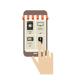 Mobile phone shopping vector