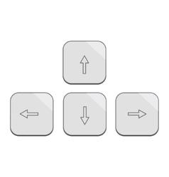 Modern design keybord arrows set in silver vector image