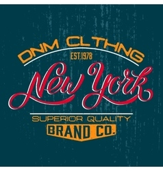 New york design print vector
