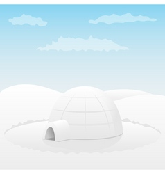 one igloo vector image