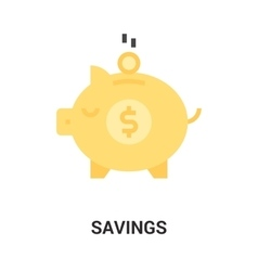 savings icon concept vector image