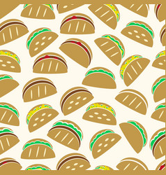 Set of color tortilla tacos food icons seamless vector