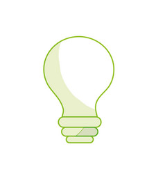 Silhouette electricity bulb innovation to vector