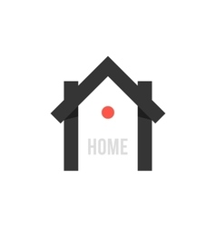 smart house black icon with point vector image vector image