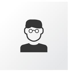 Smart man icon symbol premium quality isolated vector