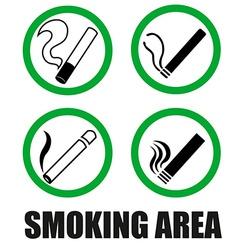 Smoking area symbols vector