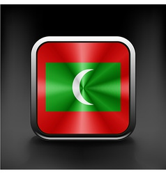 Sovereign state flag of country of Maldives vector image vector image