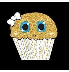 Sweet tasty cupcake vector