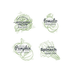 vegetables logo concept vector image