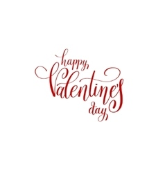 Happy valentines day handwritten red lettering vector