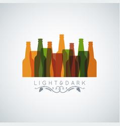 Beer bottle glass logo banner design background vector