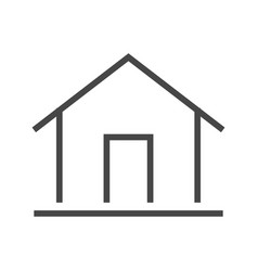Home thin line icon vector