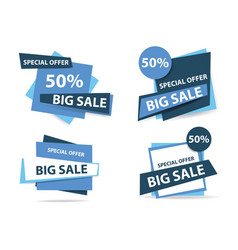 Colorful shopping sale banner template discount vector