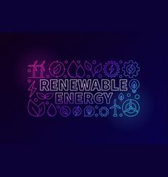 renewable energy colorful banner vector image