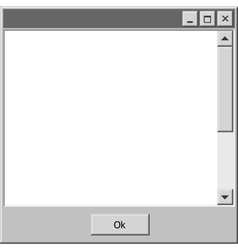 Old school computer windows bar ok button vector