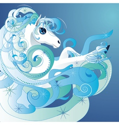 Winter horse2 vector