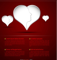 3Heart head vector image