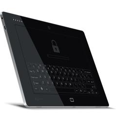 Tablet Left Side View Leaning Back vector image