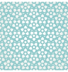 Blue floral wallpaper seamless background vector