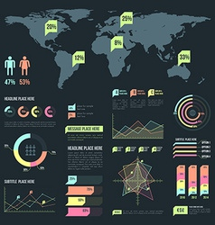 Light color infographic elements collection vector