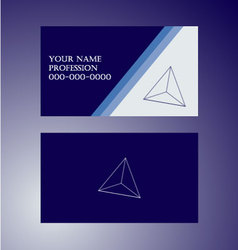 Blue-vision - business card vector