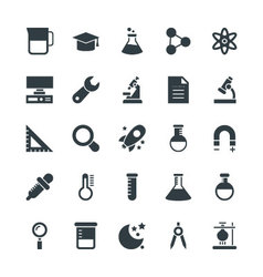 Science and Technology Cool Icons 4 vector image