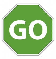 go sign vector image