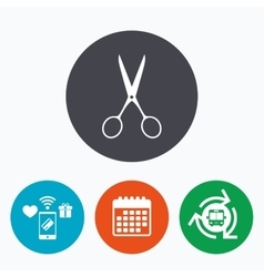 Scissors hairdresser sign icon tailor symbol vector