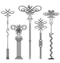 Vertical ornamental vector image